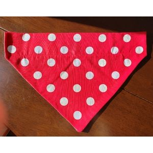Handmade Dog Collar Polka dot Bandana